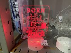 BORN TO TRUCK LED LIGHT UP SIGN NEW