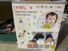 RED KITE FEED ME COMPACT FOLDING HIGH CHAIR EX DISPLAY