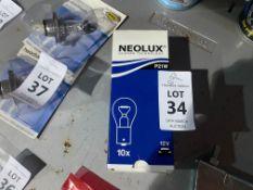 BOX OF 10X NEOLUX P21W BULBS (NEW)