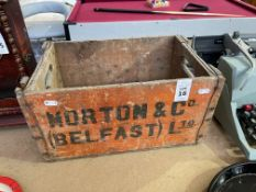MORTON & CO BELFAST VINTAGE CRATE