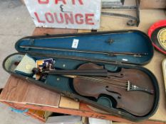 ANTIQUE VIOLIN 1905 IN GEO WITHERS & SONS CASE
