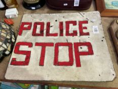 POLICE STOP SIGN