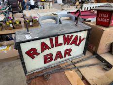 ORIGINAL RAILWAY BAR SIGN
