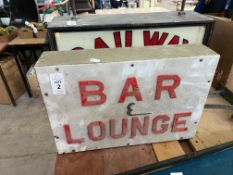 BAR AND LOUNGE SIGN