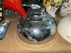 SILVER COLOURED METAL LAMP SHADE