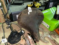 VINTAGE LEATHER BICYCLE SEAT