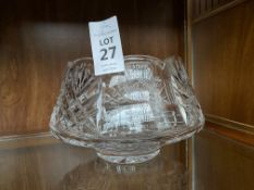 CAVAN CRYSTAL BOWL INSCRIBED WITH BLAINROE GOLF CLUB DESIGN