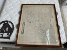 FRAMED 1965 MAP OF UPPER LOUGH ERNE