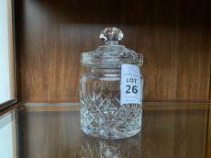 ZAWIERCIE LEAD CRYSTAL SWEET JAR & LID