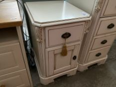 UNIQUE WHITE 2 DRAWER BEDSIDE CABINET