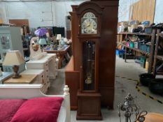 KIENINGER GRANDFATHER CLOCK WITH PENDULUM & WEIGHTS
