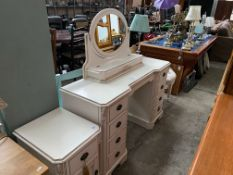 UNIQUE 9 DRAWER DRESSING TABLE WITH MIRROR