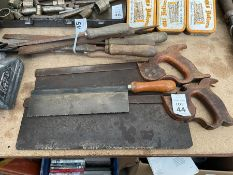 3X ASSORTED HAND SAWS