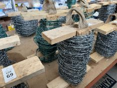 2 PART ROLLS OF BARBED WIRE