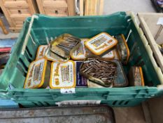 CRATE OF TOBACCO BOXES AND CONTENTS
