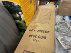HY-PRO UPVC 6' X 4' GOALPOST & NET