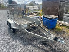 "INDESPENSION TYPE V20 8.4"" X 4.2"" TWIN AXLE PLANT TRAILER & RAMP"