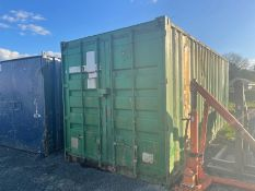 20 X 8 GREEN SHIPPING CONTAINER