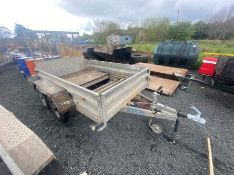 INDESPENSION TYPE V67Z TWIN AXLE TRAILER WITH RAMP (DAMAGED FLOOR)