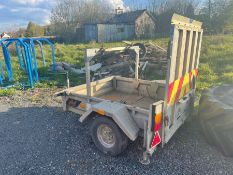 PIKE 5FT X 4FT 750KG SINGLE AXLE GALVANISED TRAILER WITH RAMP