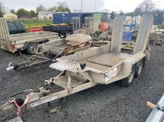 IFOR WILLIAMS 9.2' X 4.4' TWIN AXLE PLANT TRAILER & RAMPS