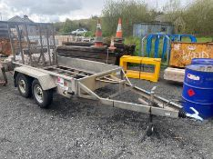 "INDESPENSION TYPE V20 8.2"" X 4.2"" TWIN AXLE PLANT TRAILER WITH RAMP (NO FLOOR)"