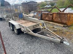 "INDESPENSION TYPE V20 8.2"" X 4.2"" TWIN AXLE PLANT TRAILER & RAMP"