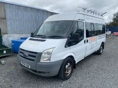 2009 WHITE FORD TRANSIT 2.4 15-SEATER MINI BUS (117,990KM) (TURNS ON AND DRIVING) (NO MOT, NO