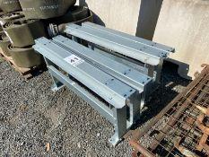 4 X GALVANIZED STEEL SUPPORTS/LEGS (HAMMER VAT ON THIS ITEM)