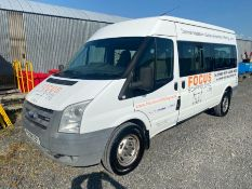 2008 WHITE FORD TRANSIT 2.4 15-SEATER MINI BUS (TURNS ON AND DRIVING) (105,425KM - NO MOT, NO