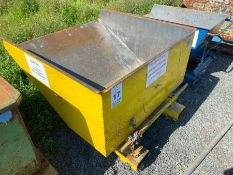 YELLOW FORKLIFT TIPPING SKIP (HAMMER VAT ON THIS ITEM)