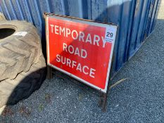 2 X TEMPORARY ROAD SURFACE SIGNS (HAMMER VAT ON THIS ITEM)