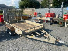 INDESPENSION TWIN-AXLE PLANT TRAILER WITH RAMP (10X6) (HAMMER VAT ON THIS ITEM)