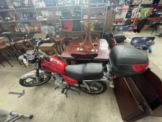 124CC HARTFORD MOTORCYCLE TAXED TO 1ST AUG '21 / MOT TO 28TH AUG '21 (42,409KM - NEEDS NEW BATTERY &