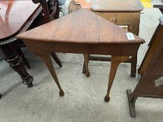 OLD WOODEN CORNER TABLE