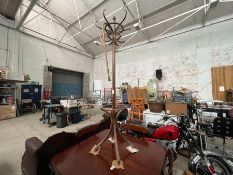 OLD WOODEN COAT STAND