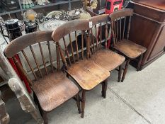 4X WOODEN CHAIRS
