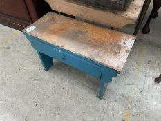 SMALL WOODEN BENCH WITH DRAWER