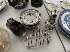 4X ASSORTED SILVER PLATED ITEMS