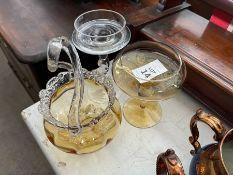 BUNDLE OF 3X GLASS ITEMS