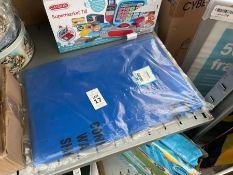 10X LARGE BLUE WASTE BAGS & TIES