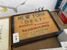 SET OF 6X NEW YORK DELI THEMED PLACE MATS