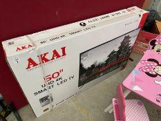 "AKAI 50"" UHD 4K SMART LED TV (SEALED BOX)"
