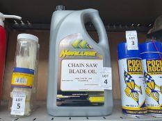 4.54L TUB OF CHAIN SAW BLADE OIL