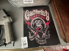 GAS MONKEY GARAGE TIN SIGN
