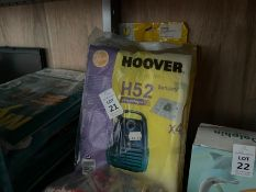 10X ASSORTED PACKS OF HOOVER BAGS