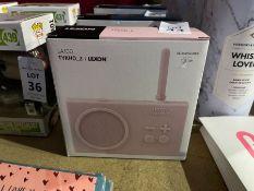 LEXON LA100 TYKHO_2 RECHARGEABLE RADIO - PINK RRP £59 (NEW)