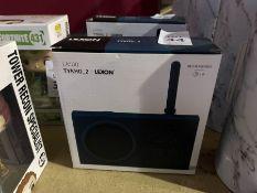 LEXON LA100 TYKHO_2 RECHARGEABLE RADIO - BLUE RRP £59 (NEW)