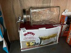 KILNER 3L GLASS FRIDGE DRINKS DISPENSER