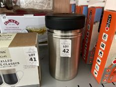 ISOSTEEL THERMAL CANISTER WITH SMALL CONTAINERS INSIDE